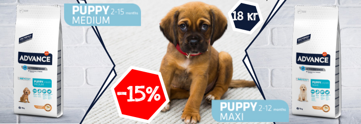 Advance puppy -15%