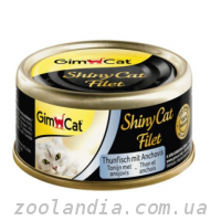 Gimpet (Джимпет) Shiny Cat Filet c тунцом и анчоусом