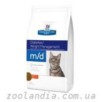 Hill's ( Хилс ) Prescription Diet Feline m/d Diabetes/Weight Management корм для кошек с курицей