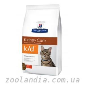 Hill\'s  ( Хилс ) Prescription Diet Feline k/d Kidney Care корм для кошек с курицей