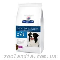 Hill's ( Хилс ) Prescription Diet Canine d/d Food Sensitivities корм для собак с уткой и рисом