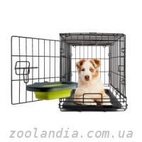 Collapsible Kennel Bowl Миска складная с креплением для клетки для собак и кошек