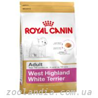Royal Canin (Роял Канин) WEST HIGHLAND WHITE TERRIER 21 - корм для собак породы Вест хайленд уайт терьер