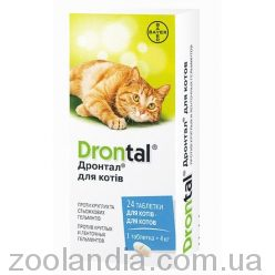 Bayer Drontal (Дронтал) таблетки Ангельминтик для кошек