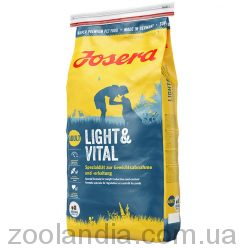 Josera (Йозера) Light and Vital - Корм для малоактивных собак и склонных к полноте (мясо птицы)