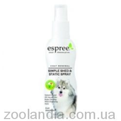 Espree (Эспри e00063) Simple Shed & Static Spray Спрей-антистатик от выпадения шерсти и зуда